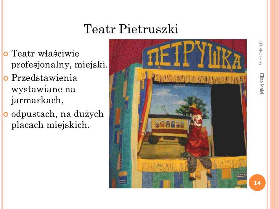 S ZOPKA ( JASEŁKA ) – BATLEJKA – WERTEP Eliza Małek 13 sceny poważne grywane są na górnej kondygnacji sceny komiczne - na dolnej. 2014-01-16