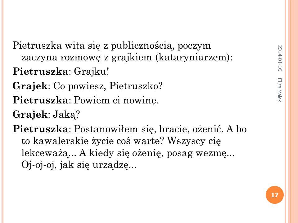 2014-01-16 Eliza Małek 16 P UNCH AND J UDY (A NGLIA ) HTTP :// WWW. PUNCHANDJUDY. COM /K AŠPAREK (C ZECHY ) HTTP :// WWW. PUNCHANDJUDY. COM