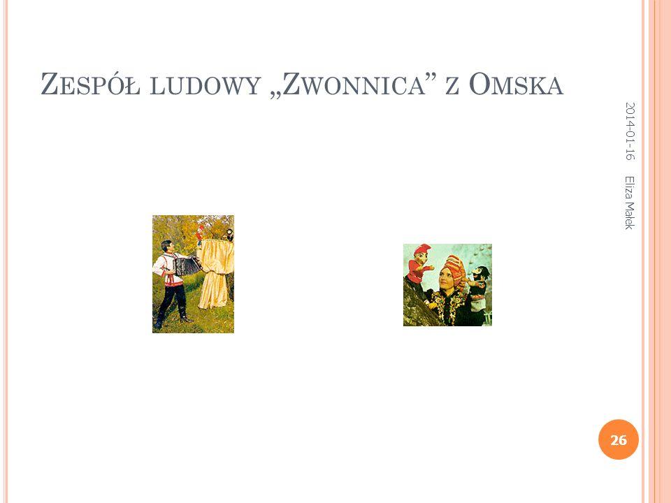 Z ESPÓŁ LUDOWY Z WONNICA Z O MSKA Eliza Małek 26 2014-01-16