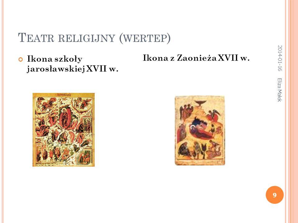 T EATR RELIGIJNY ( WERTEP ) Eliza Małek 9 Ikona szkoły jarosławskiej XVII w.