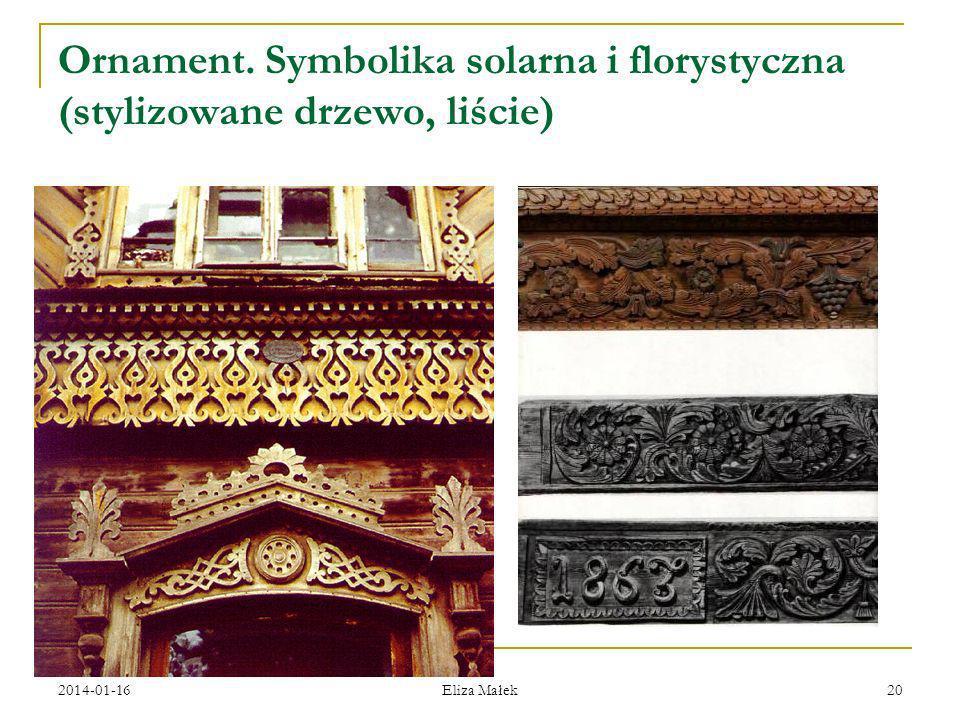 2014-01-16 Eliza Małek 20 Ornament. Symbolika solarna i florystyczna (stylizowane drzewo, liście) )