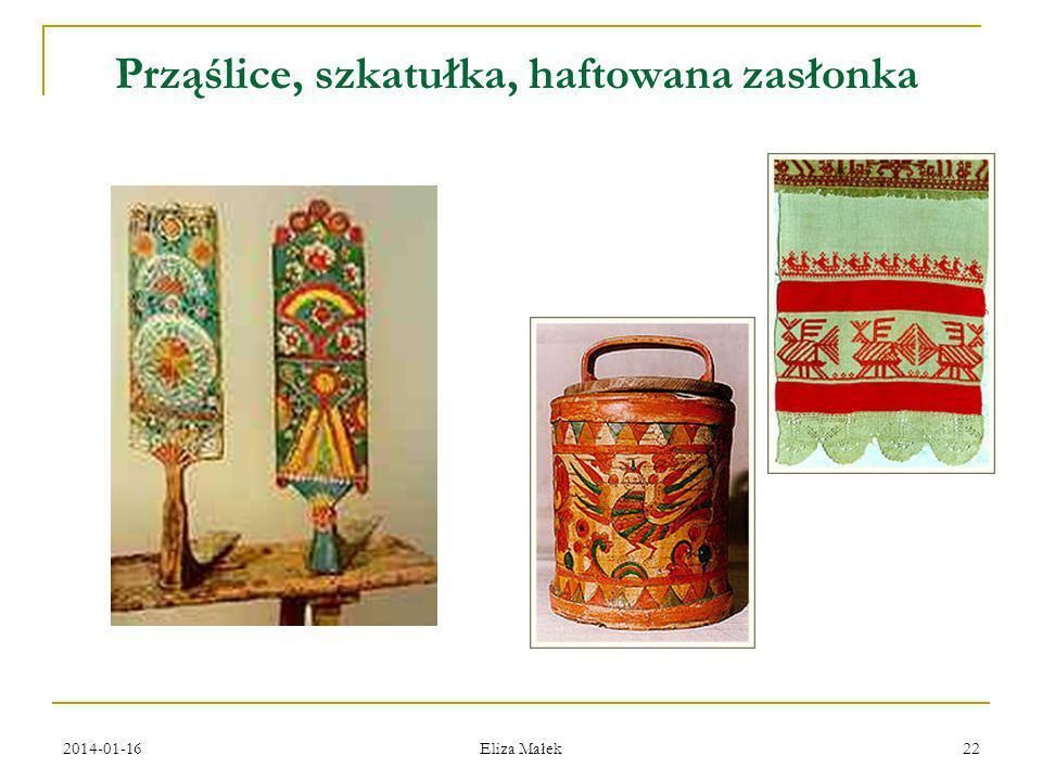 2014-01-16 Eliza Małek 22 Prząślicе, szkatułka, haftowana zasłonka
