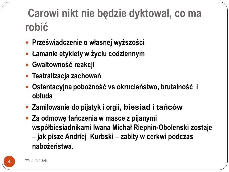 Eliza Małek 15 Но что еще глаголю ти много .