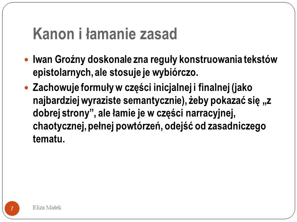 Autoironia Eliza Małek 28 «Покой (т.е.комната – Э.М.) большой и у меня, и у старца (Епифания)...