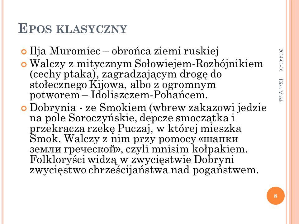 Eliza Małek 29 Poszedł precz znad jeziora w swój Nowogród.