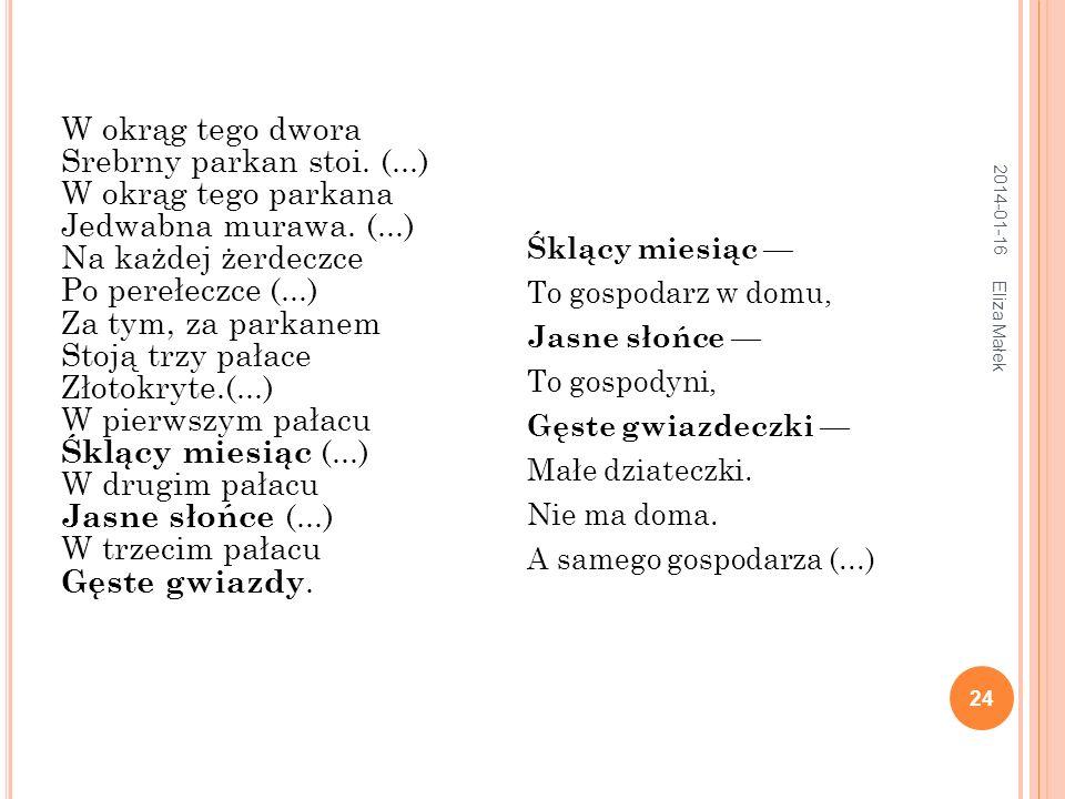 2014-01-16 Eliza Małek 25 Ta nasza kolęda Niemała, niewielka.