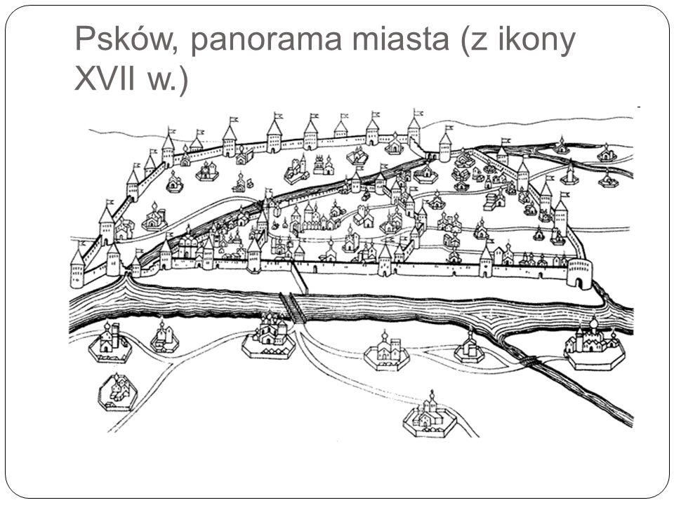 Psków, panorama miasta (z ikony XVII w.)