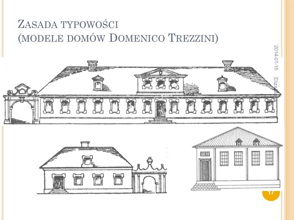 Z ASADA TYPOWOŚCI ( MODELE DOMÓW D OMENICO T REZZINI ) 2014-01-16 17 Eliza Małek