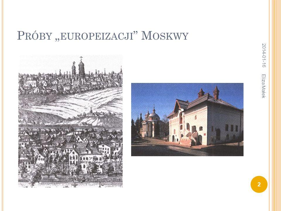 L ETNI PAŁAC P IOTRA 1710-1714 (D. T REZZINI ) 2014-01-16 23 Eliza Małek