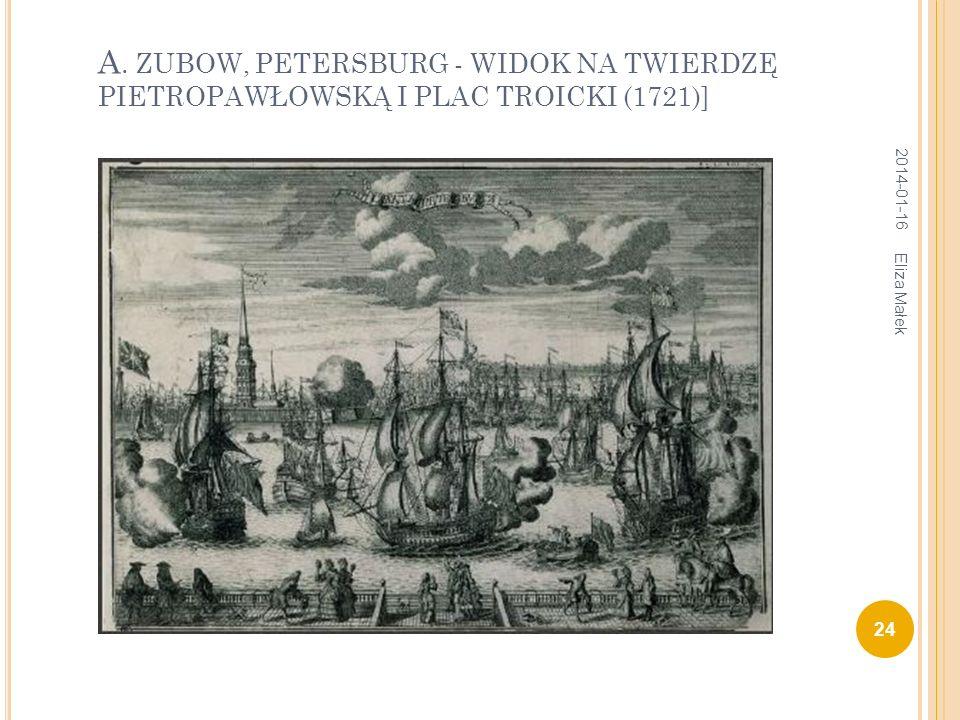А. ZUBOW, PETERSBURG - WIDOK NA TWIERDZĘ PIETROPAWŁOWSKĄ I PLAC TROICKI (1721)] 2014-01-16 24 Eliza Małek
