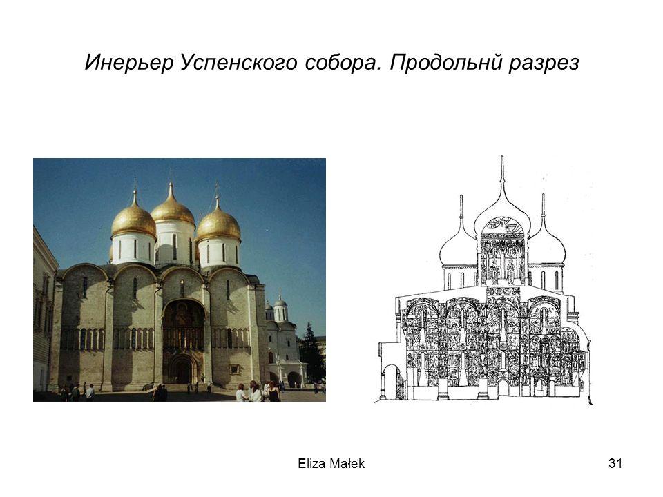 Eliza Małek31 Инерьер Успенского собора. Продольнй разрез
