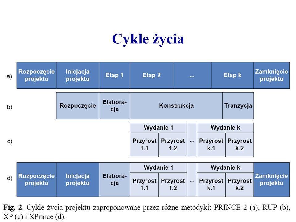 Rozpoczęcie projektu Jest zazwyczaj wykonywane przez Menadżera Projektu, który ma następujące zadania: –ustanowić zespół zarządzania projektem –stworzyć wizję systemu (jest to krótsza i bardziej konkretna wersja dokumentów Szkic projektu i Podejście do projektu z XPRINCE, zawiera on wstępne argumenty biznesowe) –zaplanować fazę Inicjacji projektu