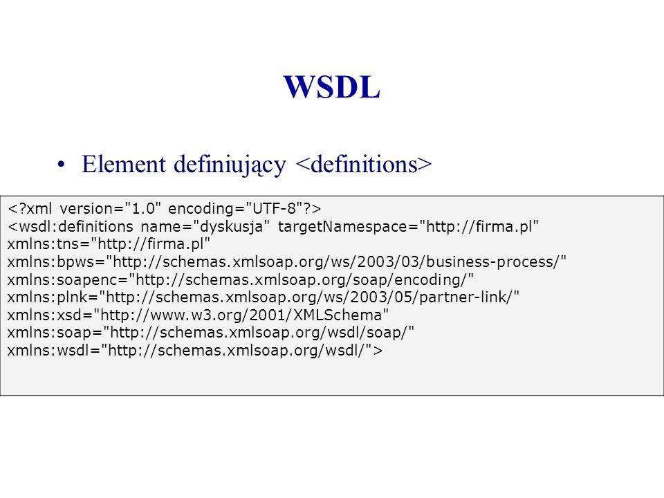 WSDL Element definiujący