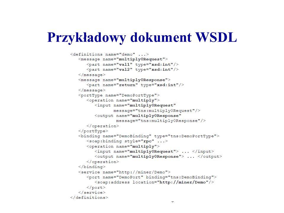 Przykładowy dokument WSDL
