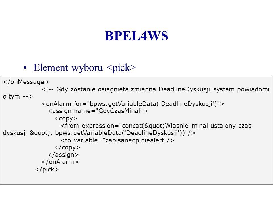 BPEL4WS Element wyboru