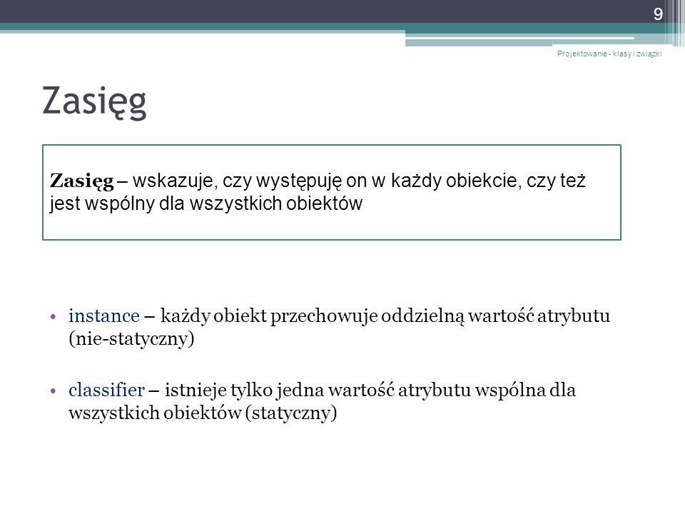 complete - implementacja Projektowanie - klasy i związki 70 // klasa konkretna public class Dziecko : Osoba {...