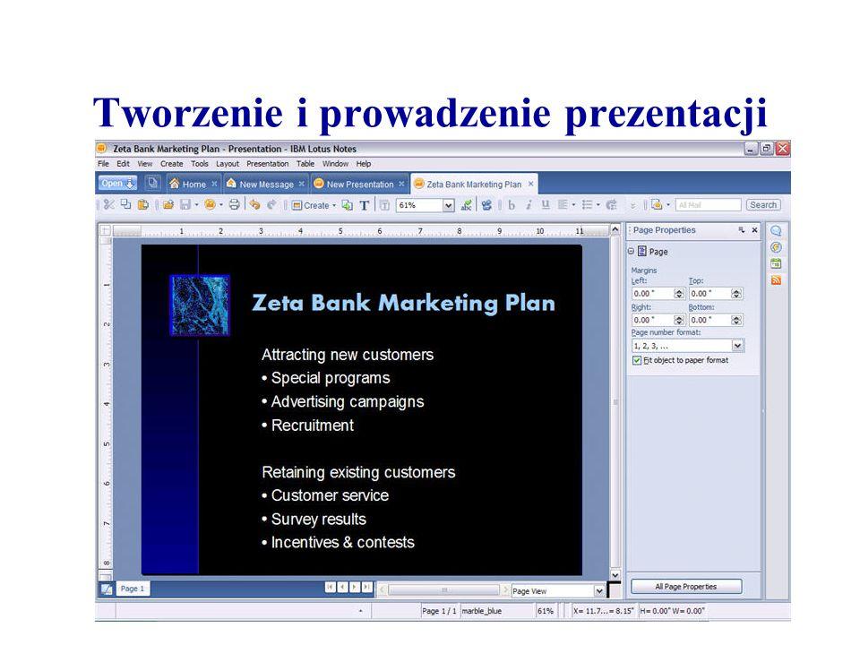 Tworzenie i prowadzenie prezentacji