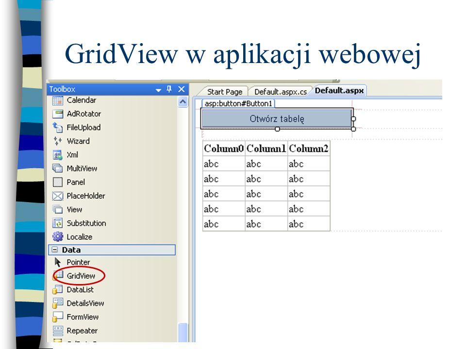 GridView w aplikacji webowej
