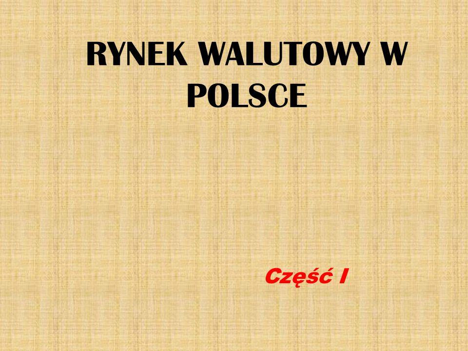 RYNEK WALUTOWY W POLSCE Część I