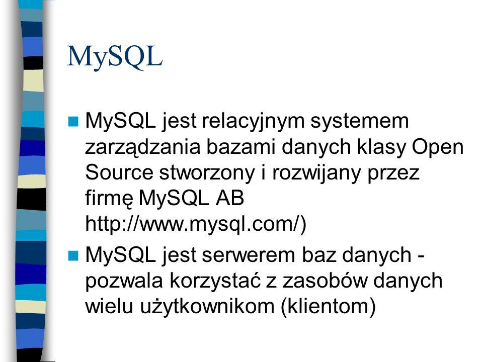 połączenie z bazą danych na komputerze macierzystym dla użytkownika root bez hasła odpowiednik use sprzedaz