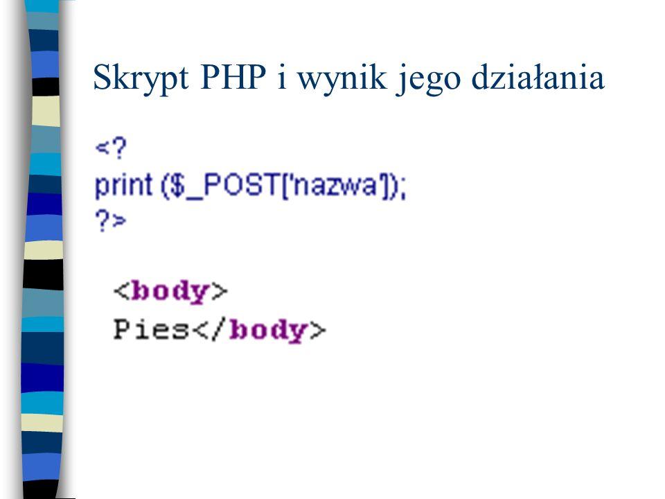 Skrypt PHP i wynik jego działania