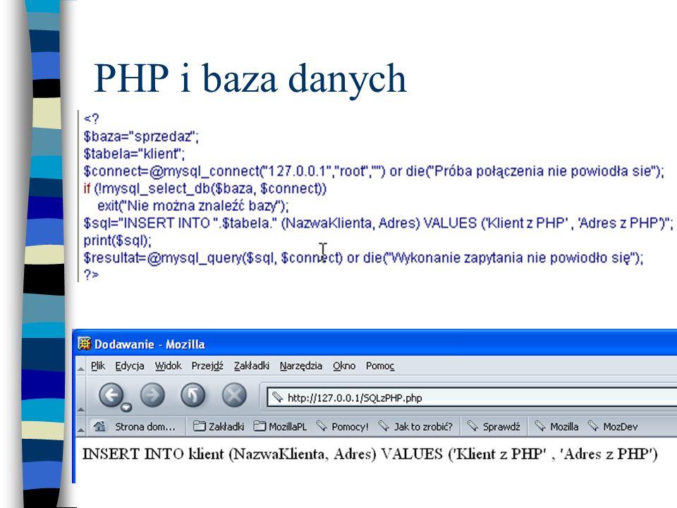 PHP i baza danych