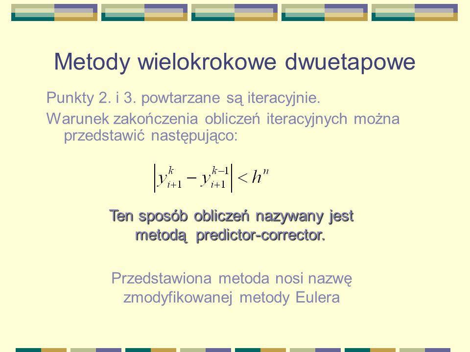 Punkty 2. i 3. powtarzane są iteracyjnie. Warunek zakończenia obliczeń iteracyjnych można przedstawić następująco: Ten sposób obliczeń nazywany jest m