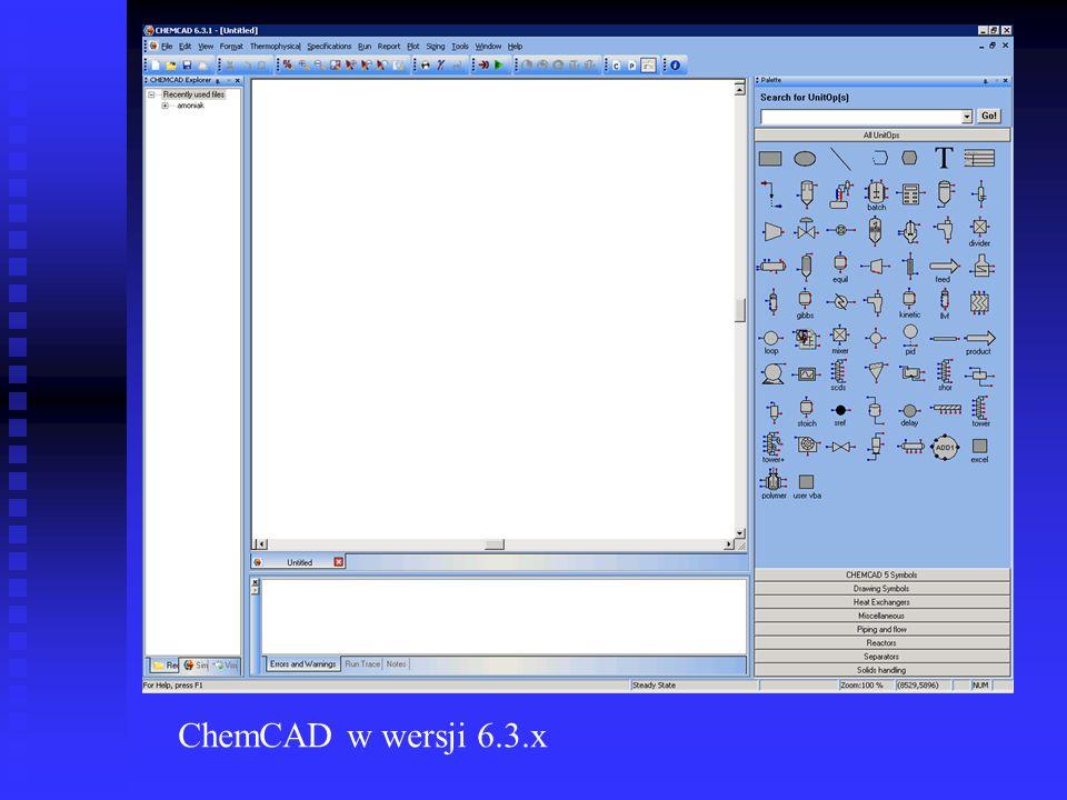ChemCAD w wersji 6.3.x