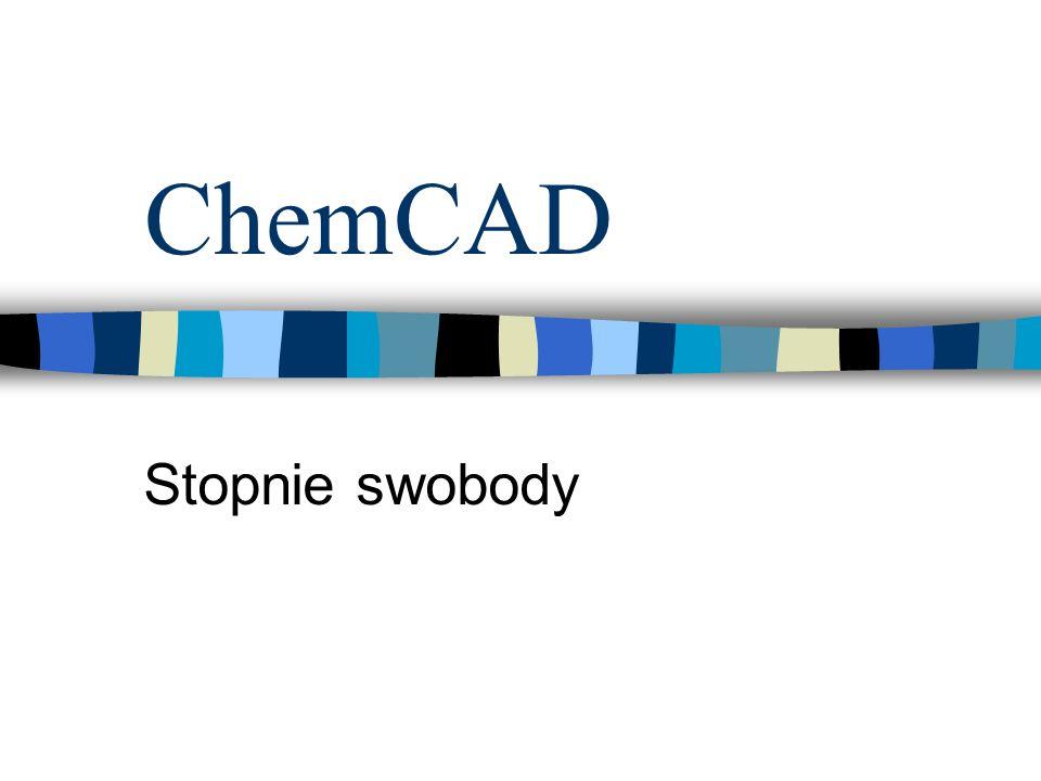ChemCAD Stopnie swobody