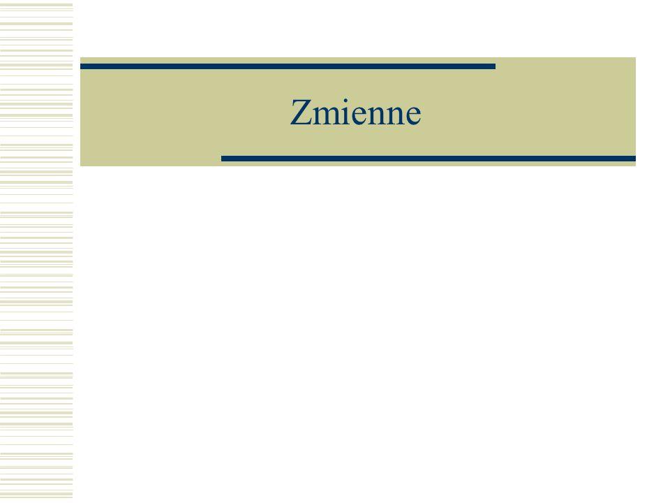 Oznaczenia Litery (A, B itp.) Wyrazy (ilosc, masa itp.) Kombinacje liter i cyfr (A1, c3 itp.) Kilka wyrazów połączonych (NazwaZbioru, srednica_wew itp.)
