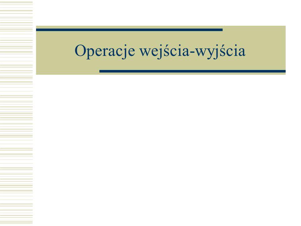 Operacje wejścia-wyjścia