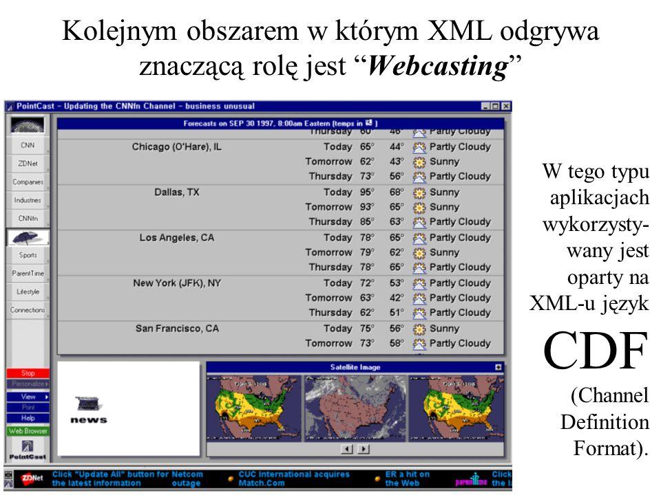 Powstało wiele norm pochodnych od XML, które wykorzystywane są w różnych obszarach zastosowań.