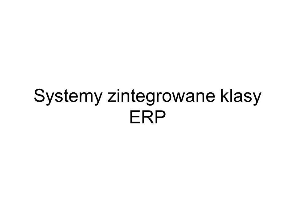 Systemy zintegrowane klasy ERP