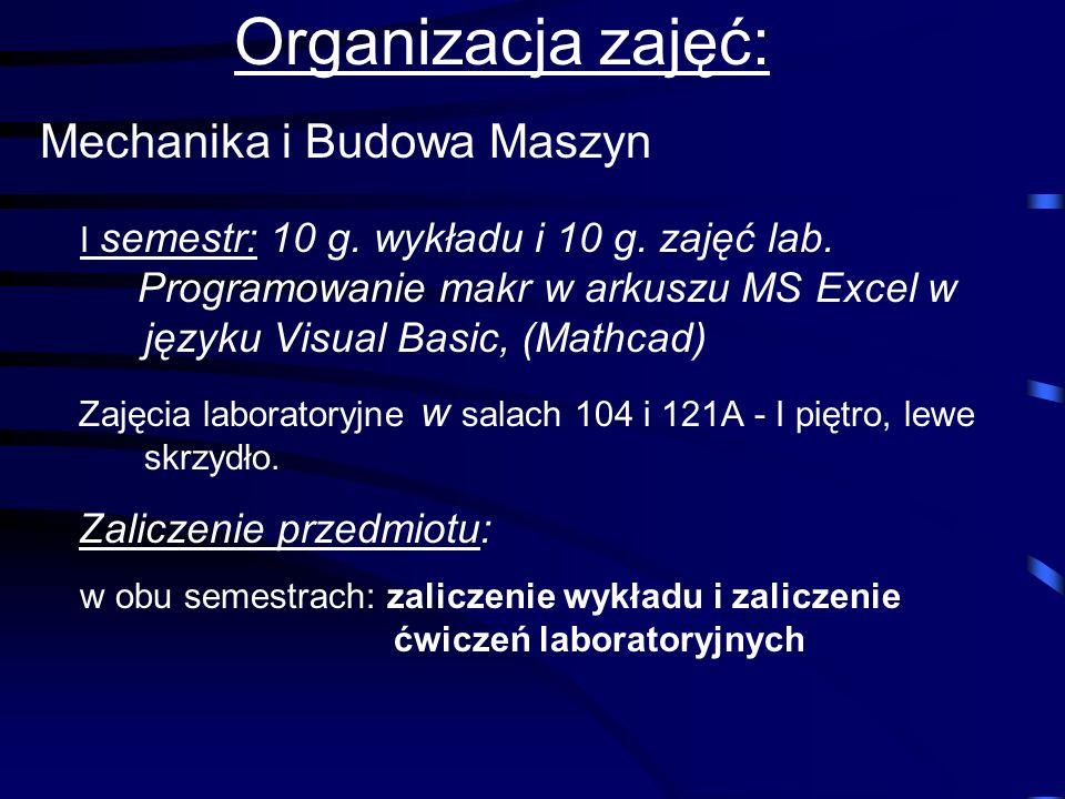 INFORMATYKA II Wykładowca: mgr Tadeusz Ziębakowski p. 126 I piętro (naprzeciw dziekanatu)