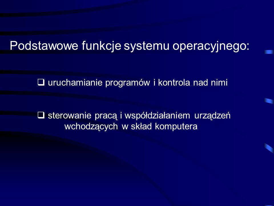 O P R O G R A M O W A N I E Algorytm – opis procesu przetwarzania informacji Program – zakodowany binarnie algorytm, który steruje pracą procesora System operacyjny – zbiór programów ułatwiających eksploatację komputera