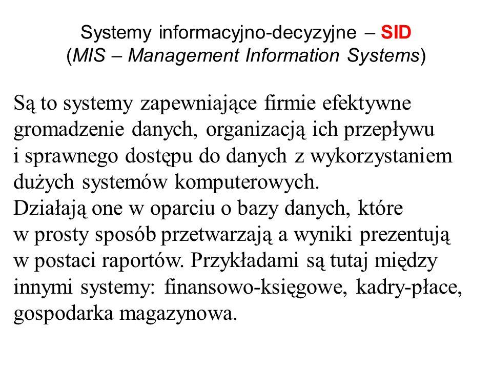 SET Systemy ewidencyjno-transakcyjne – SET (TPS- Transaction Processing Systems) Są to systemy zorientowane na bieżącą ewidencję działalności gospodar