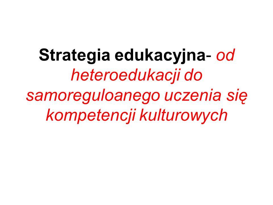 Strategia edukacyjna- od heteroedukacji do samoreguloanego uczenia się kompetencji kulturowych