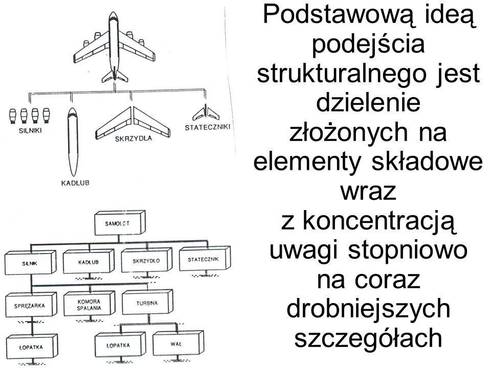 Podstawową ideą podejścia strukturalnego jest dzielenie złożonych na elementy składowe wraz z koncentracją uwagi stopniowo na coraz drobniejszych szcz