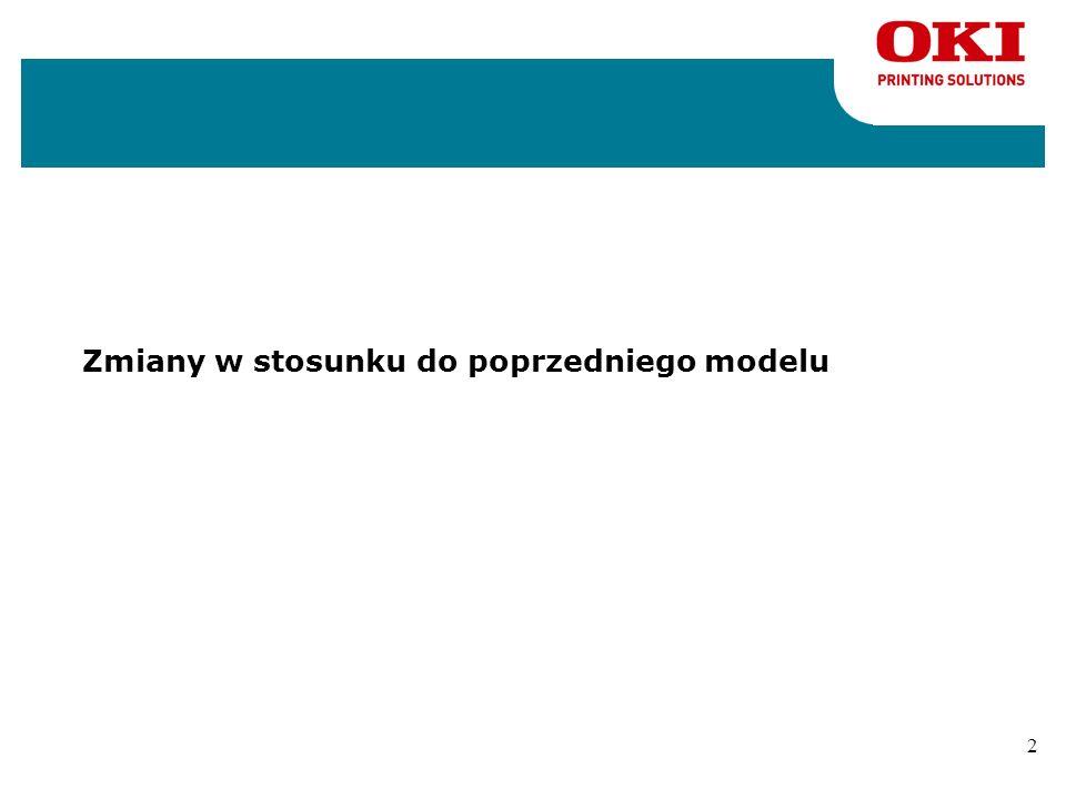 1 Agenda nZmiany w stosunku do poprzedniego modelu nPodstawowe cechy nKonkurencja nWybrane cechy oprogramowania nMateriały eksploatacyjne i opcje nPod