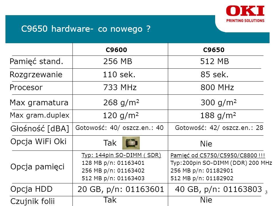 3 C9650 hardware- co nowego .C9600 Pamięć stand.