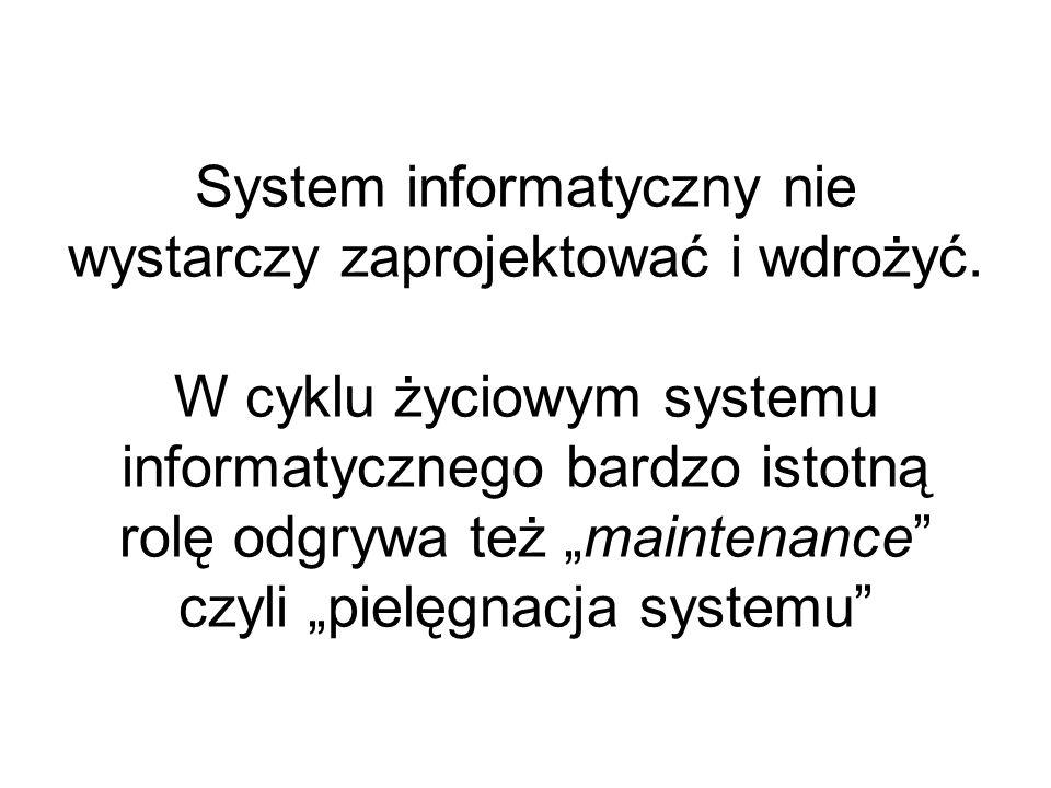 System informatyczny nie wystarczy zaprojektować i wdrożyć.