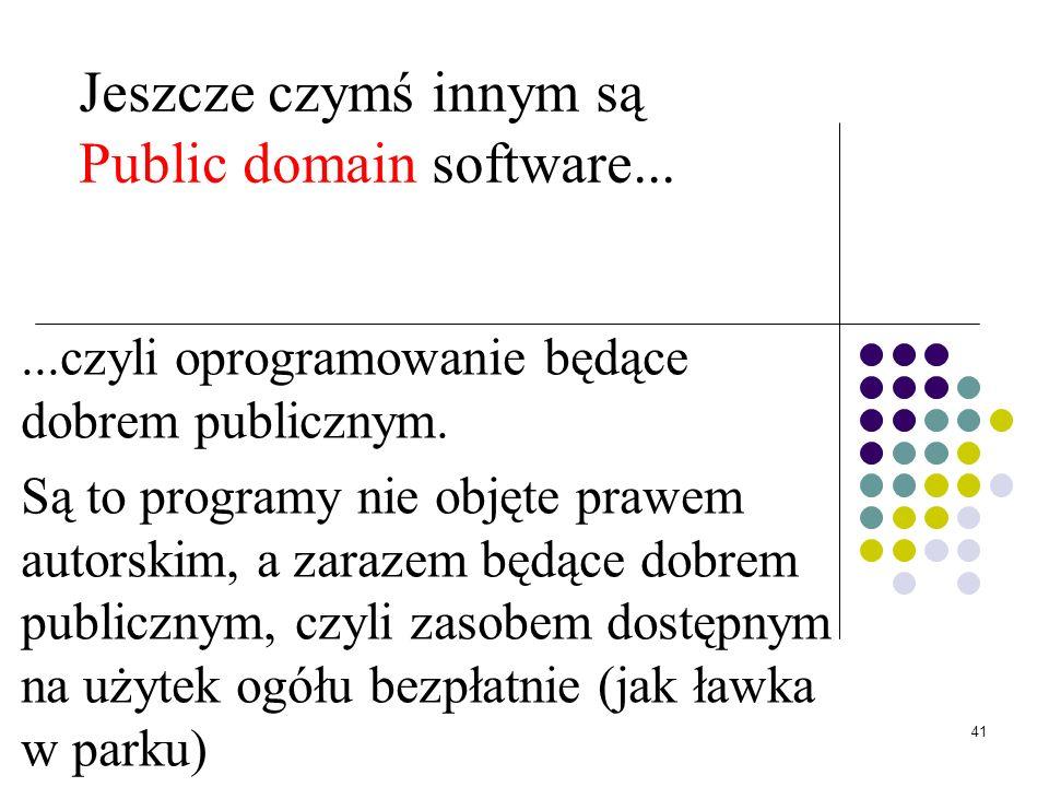 40 GPL czyli General Public License GNU GPL jest zestawem warunków rozpowszechniania i służy nakładaniu na oprogramowanie licencji copyleft. GPL kryty