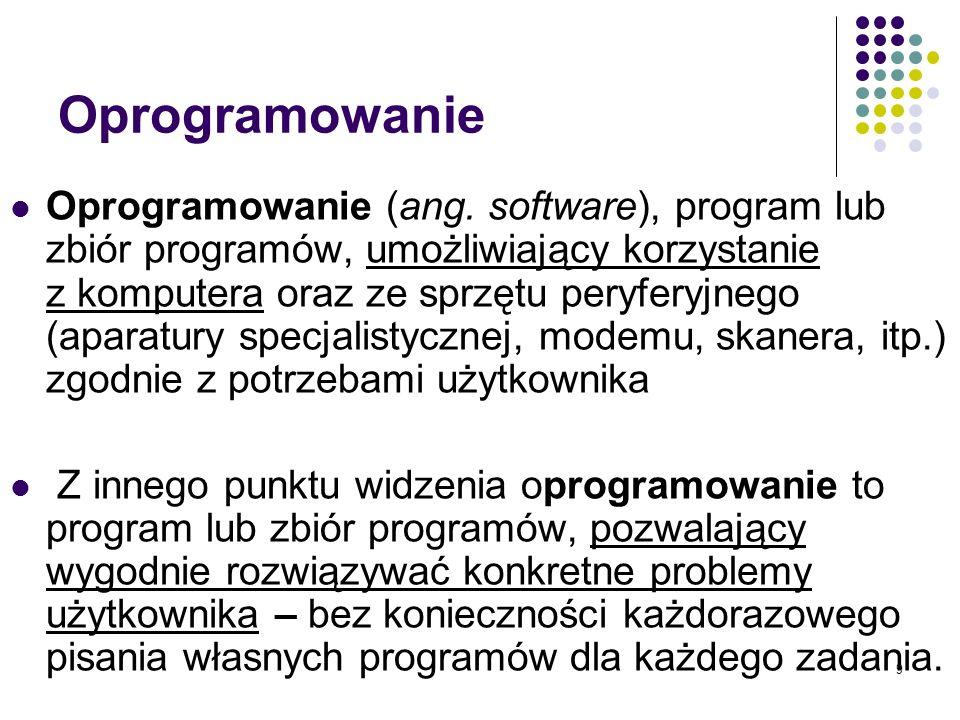 9 Oprogramowanie Oprogramowanie (ang.