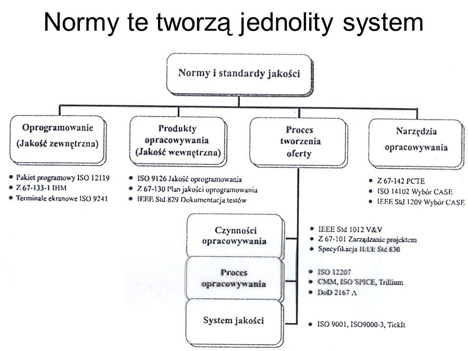 Normy te tworzą jednolity system