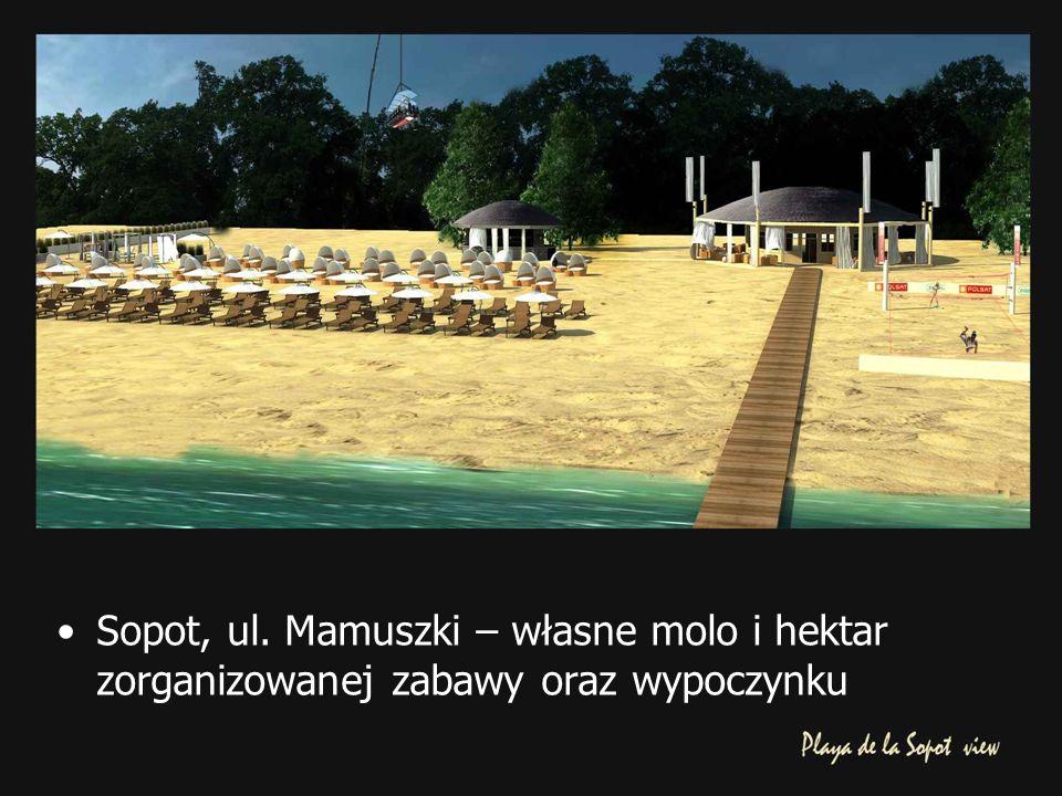 Sopot, ul. Mamuszki – własne molo i hektar zorganizowanej zabawy oraz wypoczynku