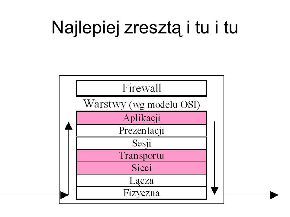 Ścianę ogniową można zbudować na poziomie filtracji pakietów albo na poziomie analizy treści informacji