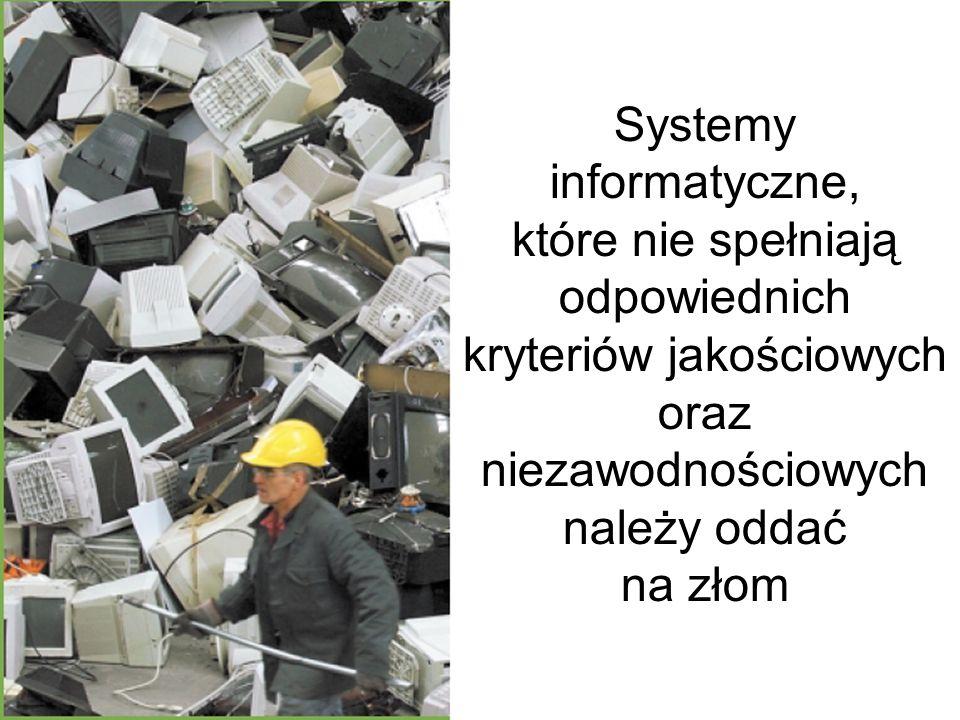 Jakość systemu informacyjnego główne czynniki Poprawność określa, czy oprogramowanie wypełnia postawione przed nim zadania i czy jest wolne od błędów.