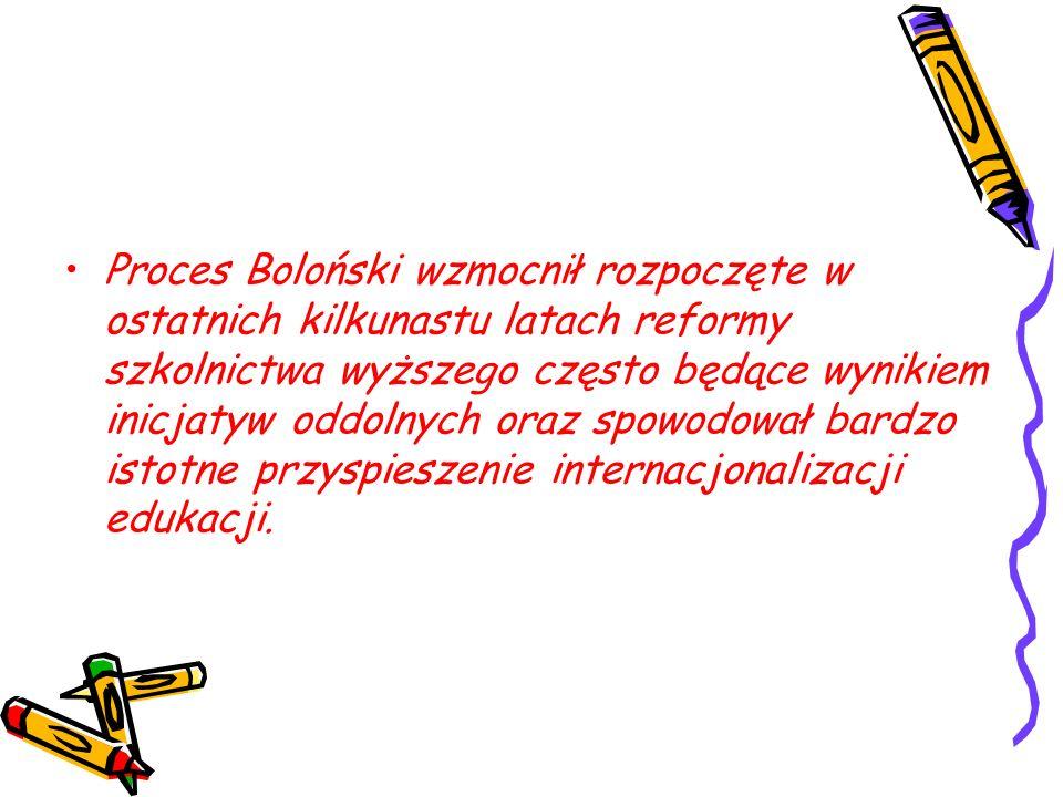 Przykład: Studia chemiczne –Standardy: polskie (MNSzW) międzynarodowe (Chemistry Euromaster) –Dalsza kariera studia doktoranckie studia na innym kierunku (niekoniecznie pokrewnym; np.