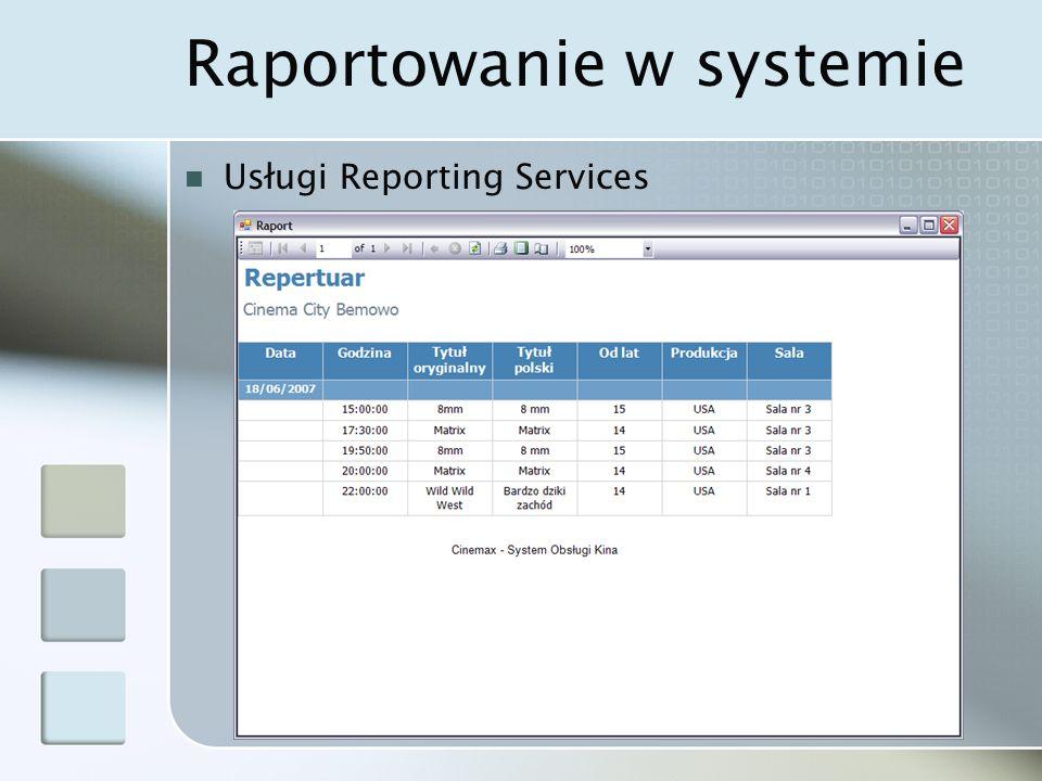 Raportowanie w systemie Usługi Reporting Services
