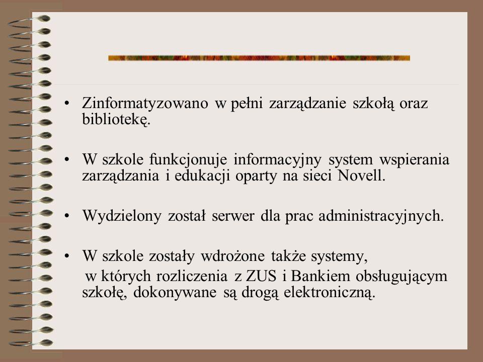 O szkole... 740 uczniów w 29 oddziałach 55 nauczycieli 5 pracowników administracyjnych i 15 obsługowych www.21sp.lublin.pl/komputer.htm